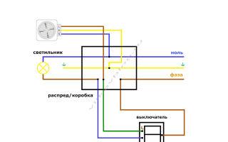 Почему не работает вентилятор в ванной, подключённый независимо через сдвоенный выключатель?