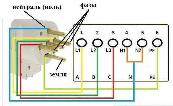 Как правильно подсоединить 4 провода к четырёхфазному переключателю kdc2?