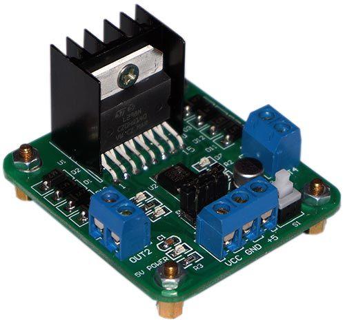 Управление двигателем постоянного тока с применением драйвера l298n и arduino uno