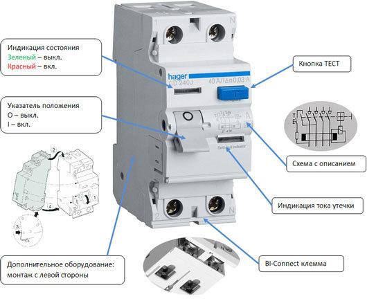 Селективное УЗО: технические характеристики