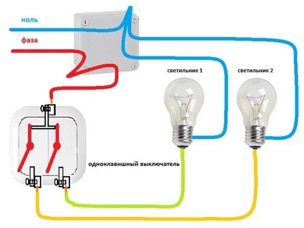 Реально ли подключить вентилятор вместе с лампочкой через одноклавишный выключатель?