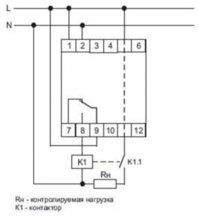 Как выглядит схема подключения ограничителя мощности ОМ-1-1?