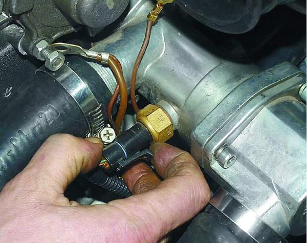 Как понять и где указывается, какой термодатчик встроен в мотор?