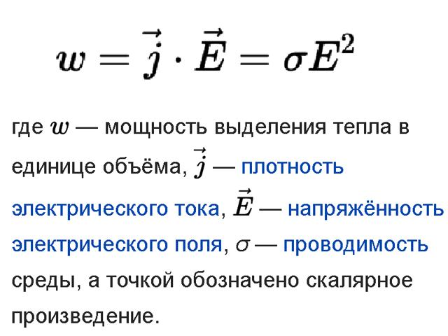 Закон Джоуля-Ленца: определение, формула, применение