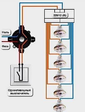 Трансформатор для галогенных ламп: схема, как выбрать