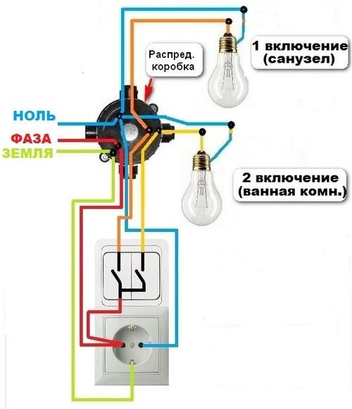 Можно ли желто-зеленый провод подключить к нулевой шине в маленьком щите в садовом домике на розетку и лампочку?