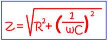 Расчет импеданса в параллельном соединении элементов цепи