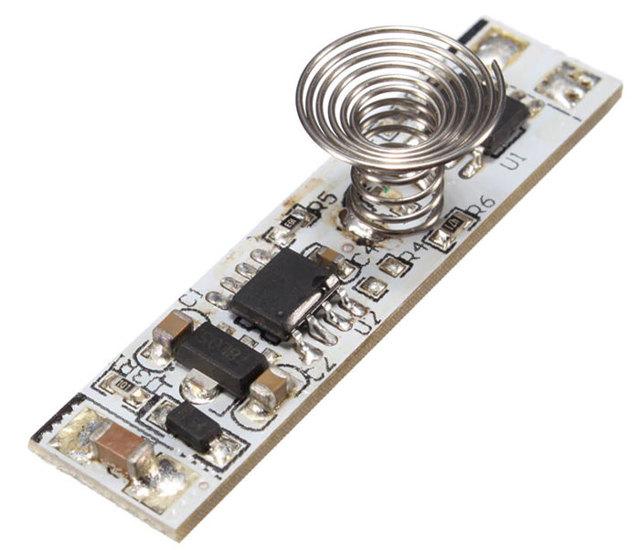 Как подключить светодиодку через бесконтактный выключатель?