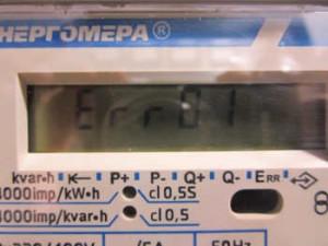 Почему на дисплее двухфазного счетчика одни восьмерки?