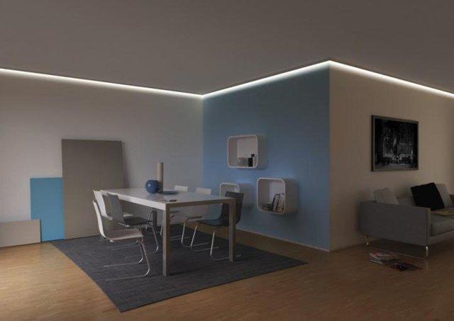 Какое расстояние должно быть между светильником и потолком?