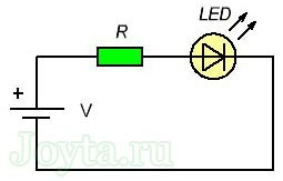 Онлайн калькулятор расчета резистора для светодиода