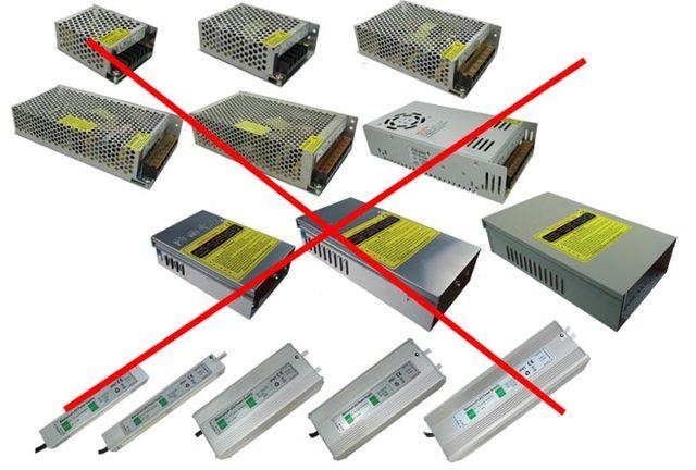 Возможен ли монтаж подсветки из 10-ти светодиодных фонарей на 4.5 вольта каждый от сети 220 вольт?