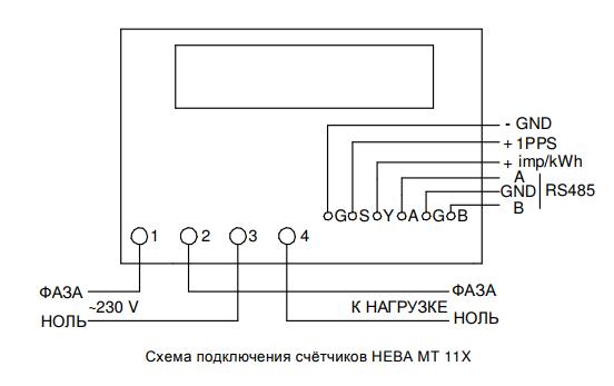 Как перевести многотарифный счетчик нева мт 112 на один тариф?