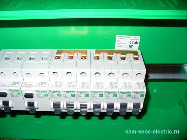 Соединительная шина для автомата (гребенка) - как подключить