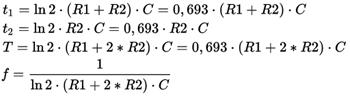 Онлайн калькулятор расчета параметров 555 таймера