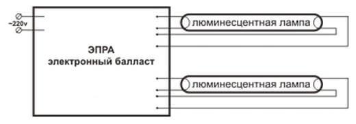 Электронный балласт для люминесцентных ламп