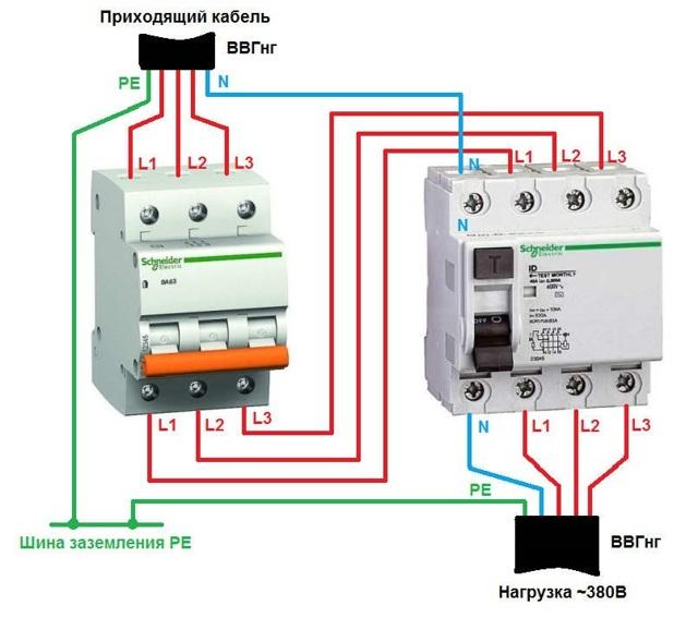 Что за 3 фазы, которые подходят к подпотолочному веревочному выключателю?