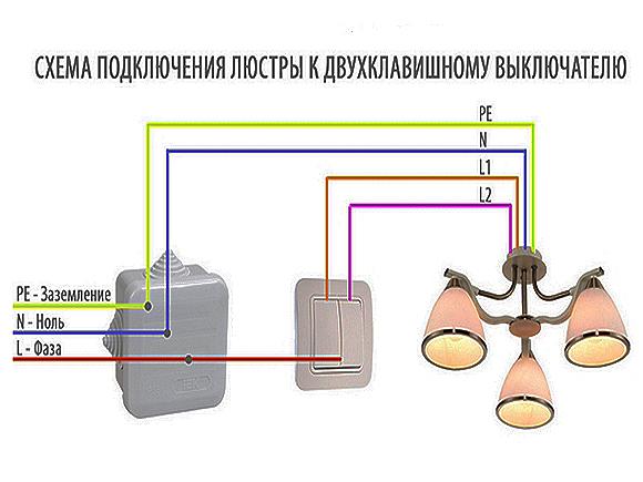 Как подключить светильник, если есть 3 белых и 3 черных провода?