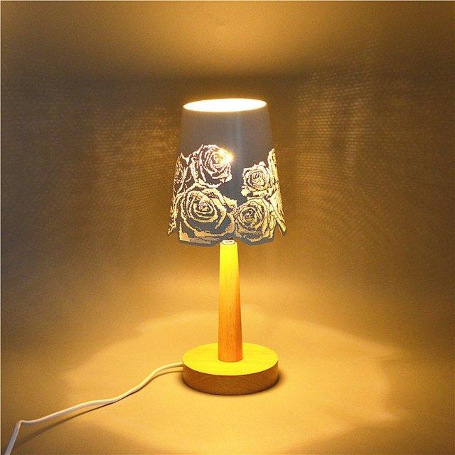 Настольные лампы с зеленым абажуром: как украсить