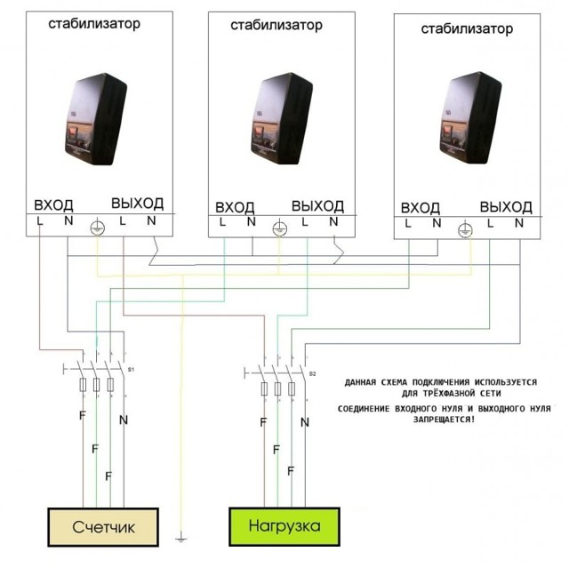 Трехфазный стабилизатор напряжения: схемы подключения, выбор