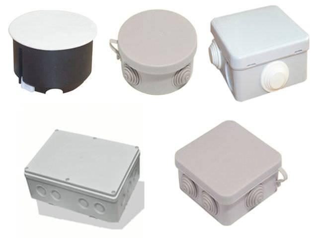 Ответвительные коробки: типы, установка, фото
