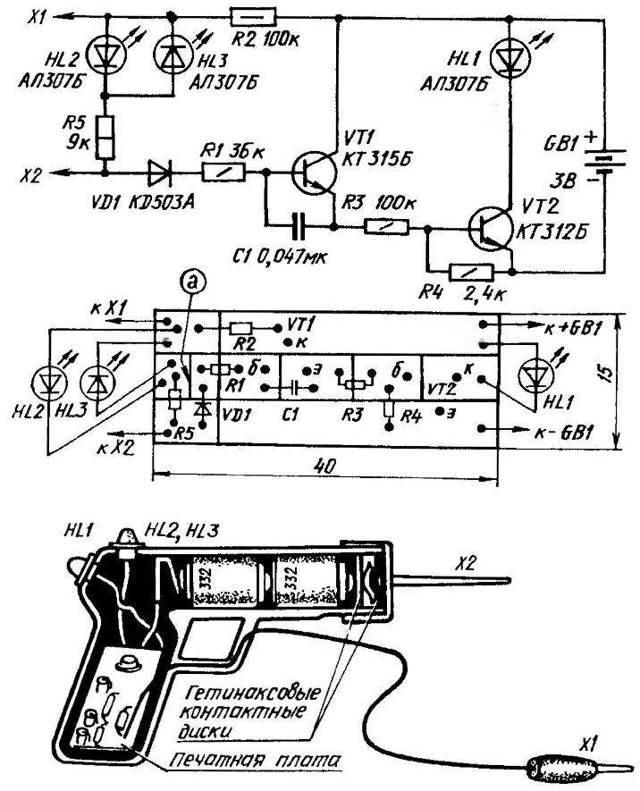 Пробник-индикатор для электрика своими руками: описание схемы