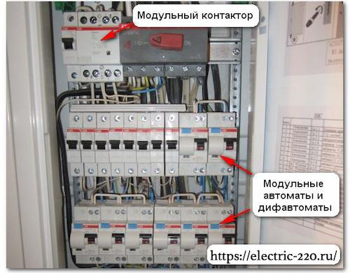 Модульный контактор: технические характеристики