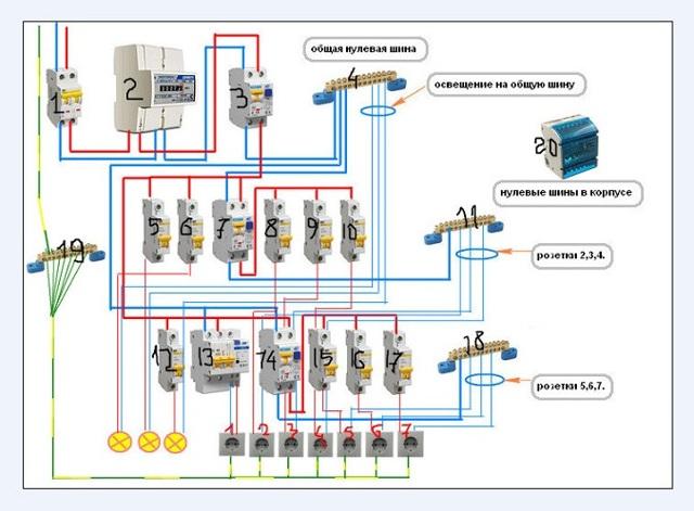 Монтаж электропроводки в квартире: видео, схемы