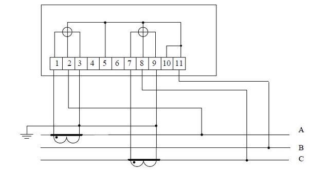 Подключение электросчетчика: схема